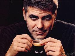 Джордж Клуни и кофе