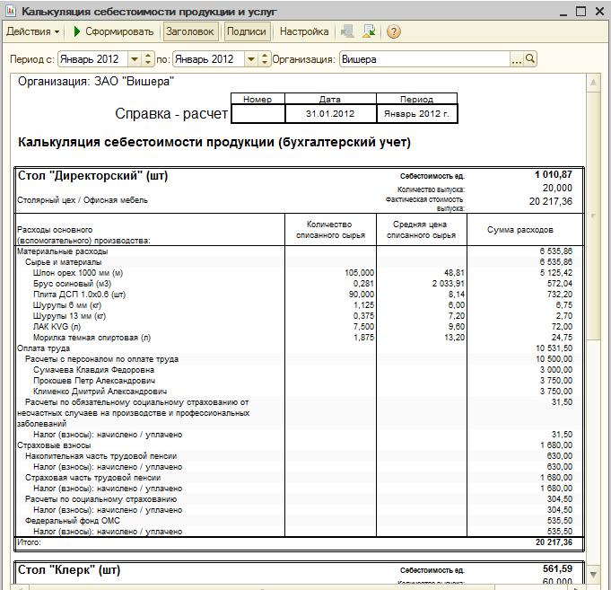 Учет затрат для оценки себестоимости продукции курсовая