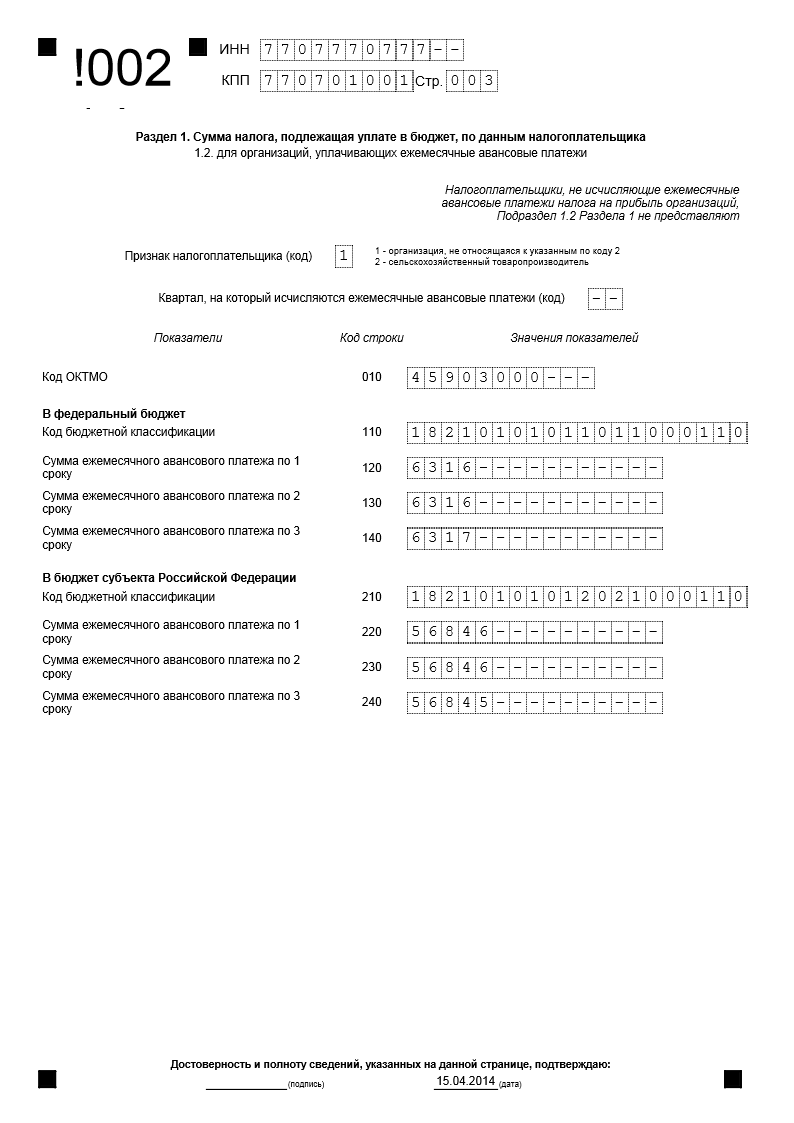 Инструкция по заполнению деклараций по прибыли
