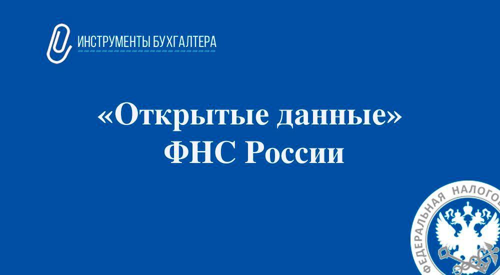 Поиск по базе «Открытые данные» от ФНС России