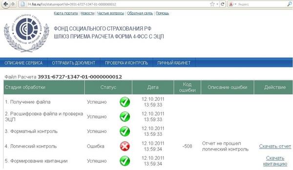 Схема для электронной отчетности 5